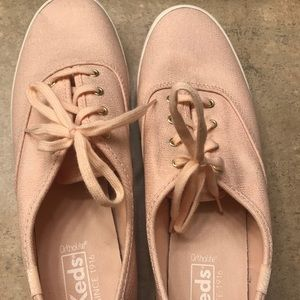 KEDS sneakers pink with gold detail